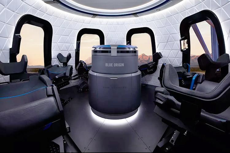 Interior do New Shepard
