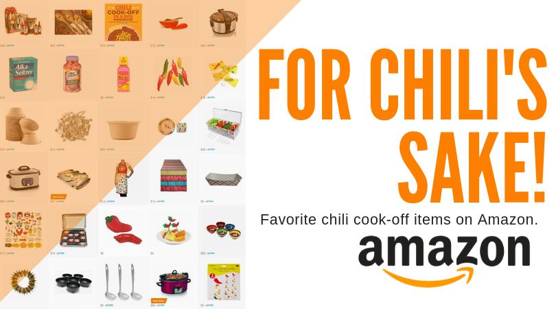 Amazon idea list for a successful chili cook-off