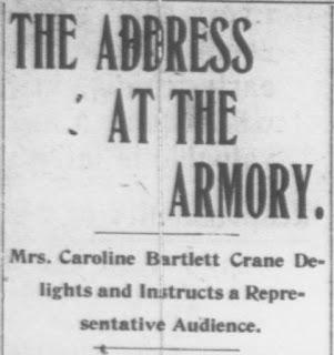 Screen grab of part of 1909 newspaper
