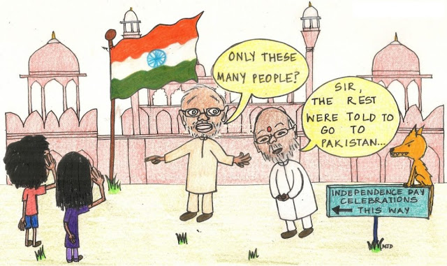 Independence Day Funny Sketch