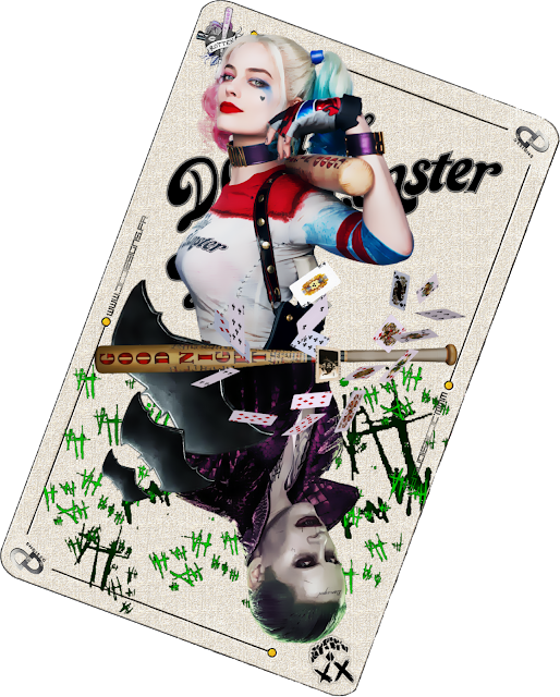Joker Card, Suicide Squad, Harley Quinn, The Joker, Margot Robbie, Jared Leto, Batman, David Ayer, DC Films, DC Comics, Digital Painting, Digital Paint, Digital Art, Fan Art, Artwork, DC Designs