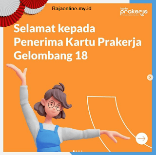 Selamat bagi Sobat yang telah menerima SMS pengumuman sebagai penerima Kartu Prakerja Gelombang 18!. Kutipan tersebut dituliskan di unggahan terbaru akun resmi Prakerja di Instagram.