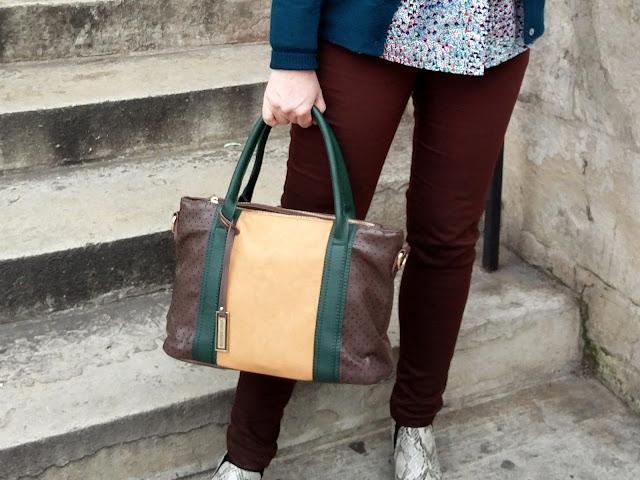 Urban Originals Bag, Dorothy Perkins Petite Skinny Jeans, Marks&Spencer Snakeskin Boots | Petite Silver Vixen