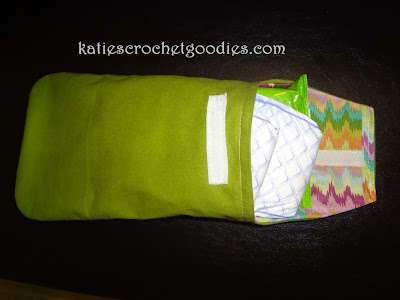 diy diaper wipe clutch