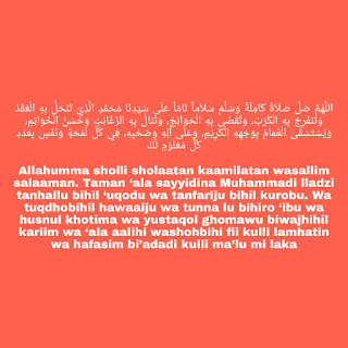 sholawat nariyah lirik serta artinya