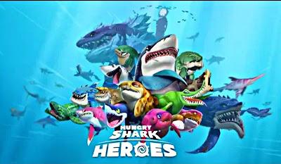 تحميل لعبة Hungry Shark Heroes v1.1 للاندرويد (آخر اصدار)