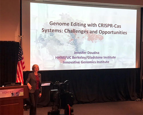 Jennifer Doudna speaks on CRISPR systems at Distinctive Voices lecture (Source: Palmia Observatory)