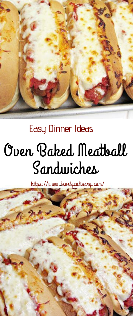 Oven Baked Meatball Sandwiches #dinnerrecipe #lunchsandwiches