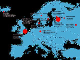 Capacité des salles de concert en Europe