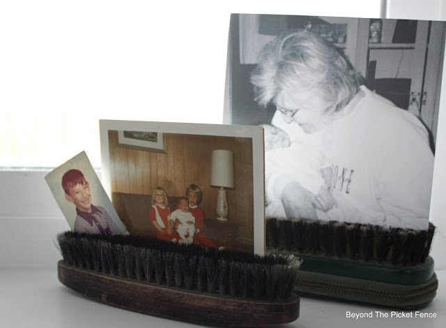 Using Vintage Finds to Display Photos
