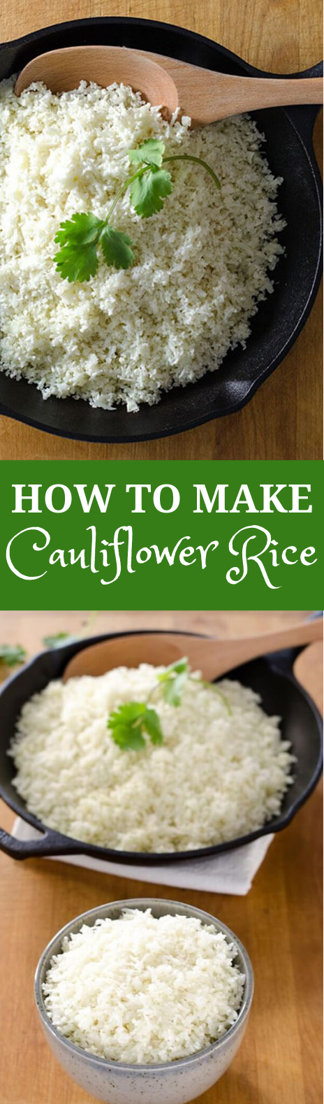 HOW TO MAKE CAULIFLOWER RICE #Cauliflower #Glutenfree