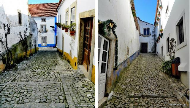 Ruas medievais de Óbidos, Portugal