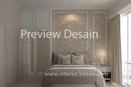 Jasa design 3Dmax Apartemen Mewah murah berpengalaman