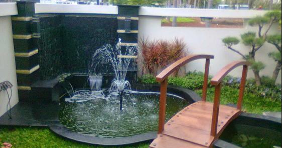Desain Kolam Air Di Taman Rumah Minimalis  100 Rumah