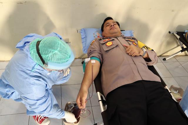 Jelang Hut BhayangKara Ke 74,Polres Dairi Laksanakan Bakti Sosial  Donor Darah Sukarela