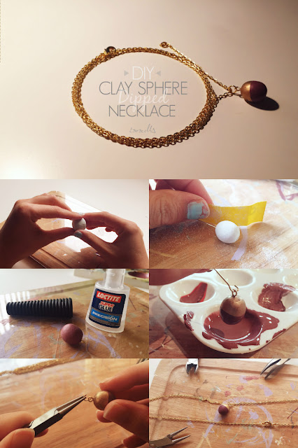 ISOSCELLA | DIY Clay Sphere Necklace