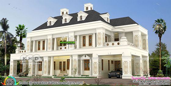6 BHK luxurious Colonial type residence