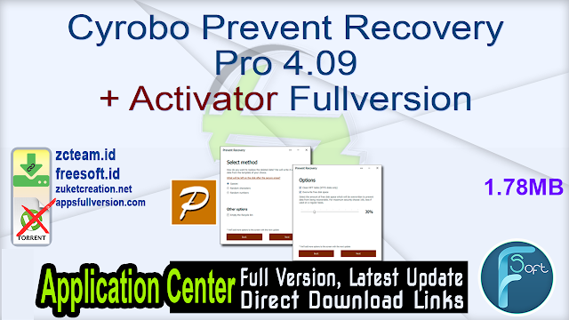 Cyrobo Prevent Recovery Pro 4.09 + Activator Fullversion