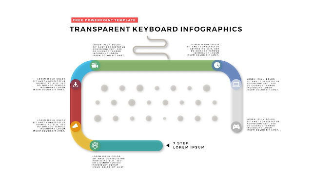 Free PowerPoint Design Elements with Transparent Keyboard Infographics Slide 1