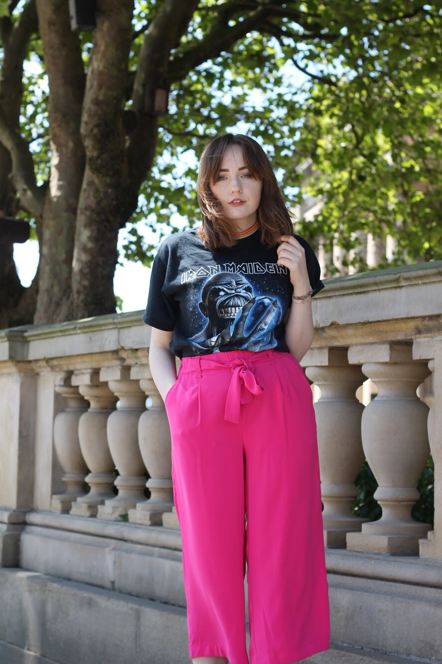 Liverpool style blog outfit BSC 2017 with fuscia culottes