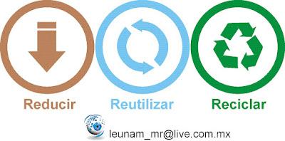 Resultado de imagen de tres erres reciclaje