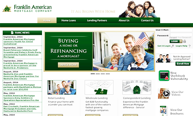Franklin American Mortgage Online For Further Information