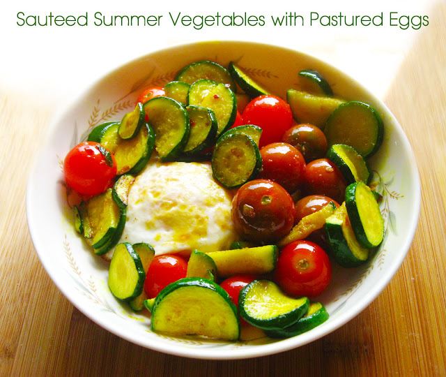 Sauteed Summer Vegetables with Pastured Eggs | www.therisingspoon.com