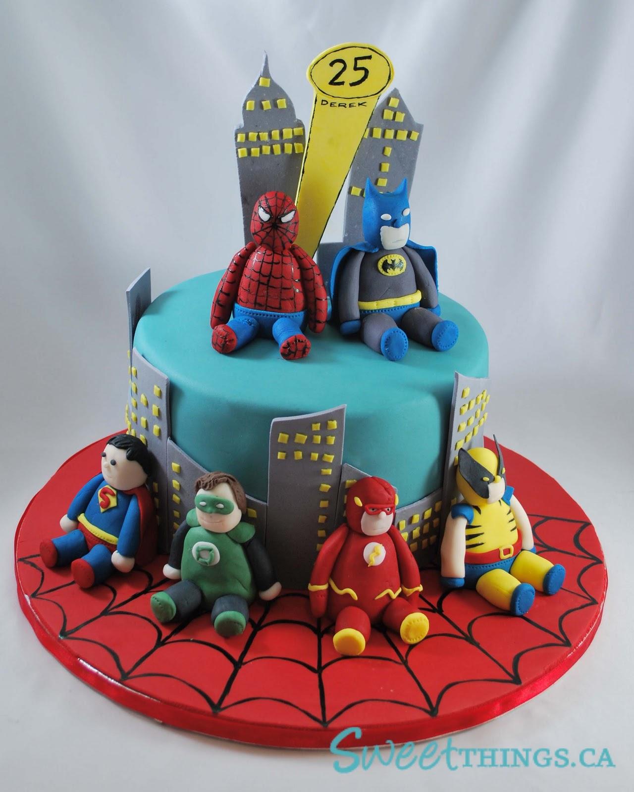 Clever Wren: Marvel Superheroes Cake  |Superhero Cakes