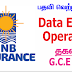 Data Entry Operator - HNB Assurance