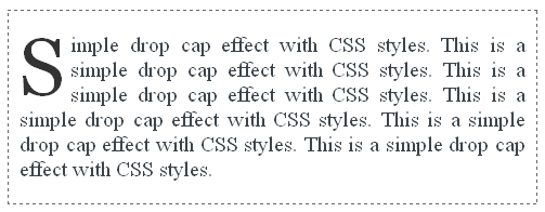 Simple CSS Drop Cap