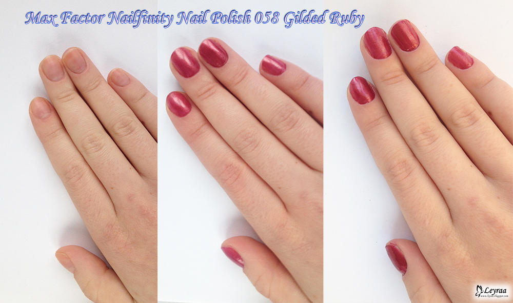 Max Factor Nailfinity Nail Polish 058 Gilded Ruby