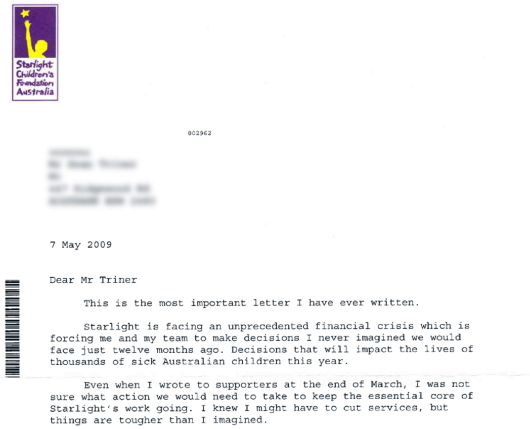 sean triner s blog long fundraising letters why oh why the emergency appeal was only developed to show how i work but they decided to mail it immediately anyway