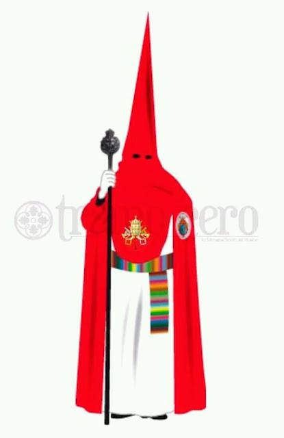 Nueva túnica de la Hermandad de la Borriquita de Huelva