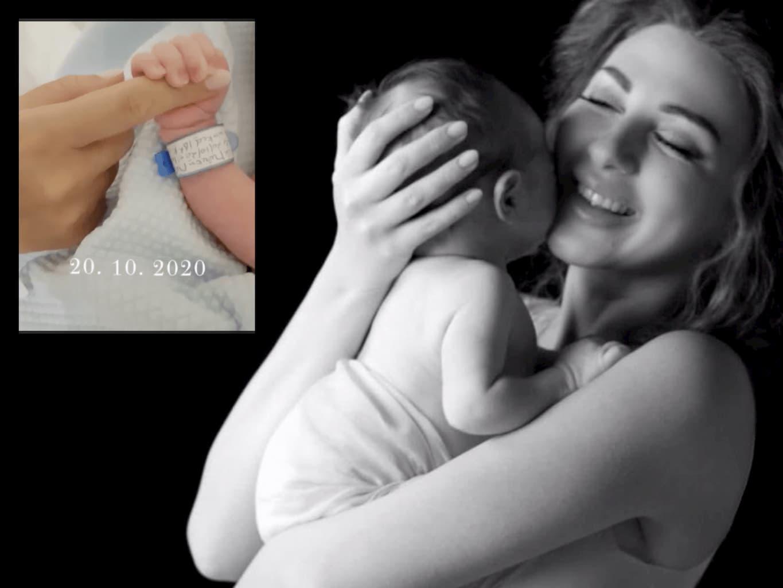 شاهد الظهور الأول للطفل ميريام فارس الثاني بعد أسبوع من ولادته