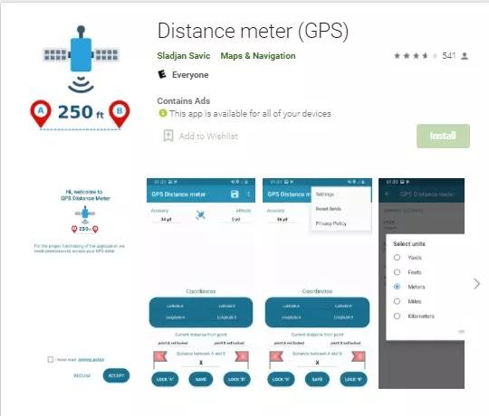 distance meter gps