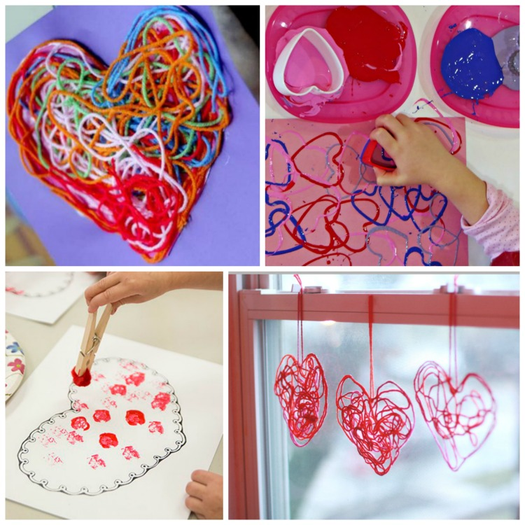 Valentine S Day Process Art Activities What Can We Do With Paper And Glue