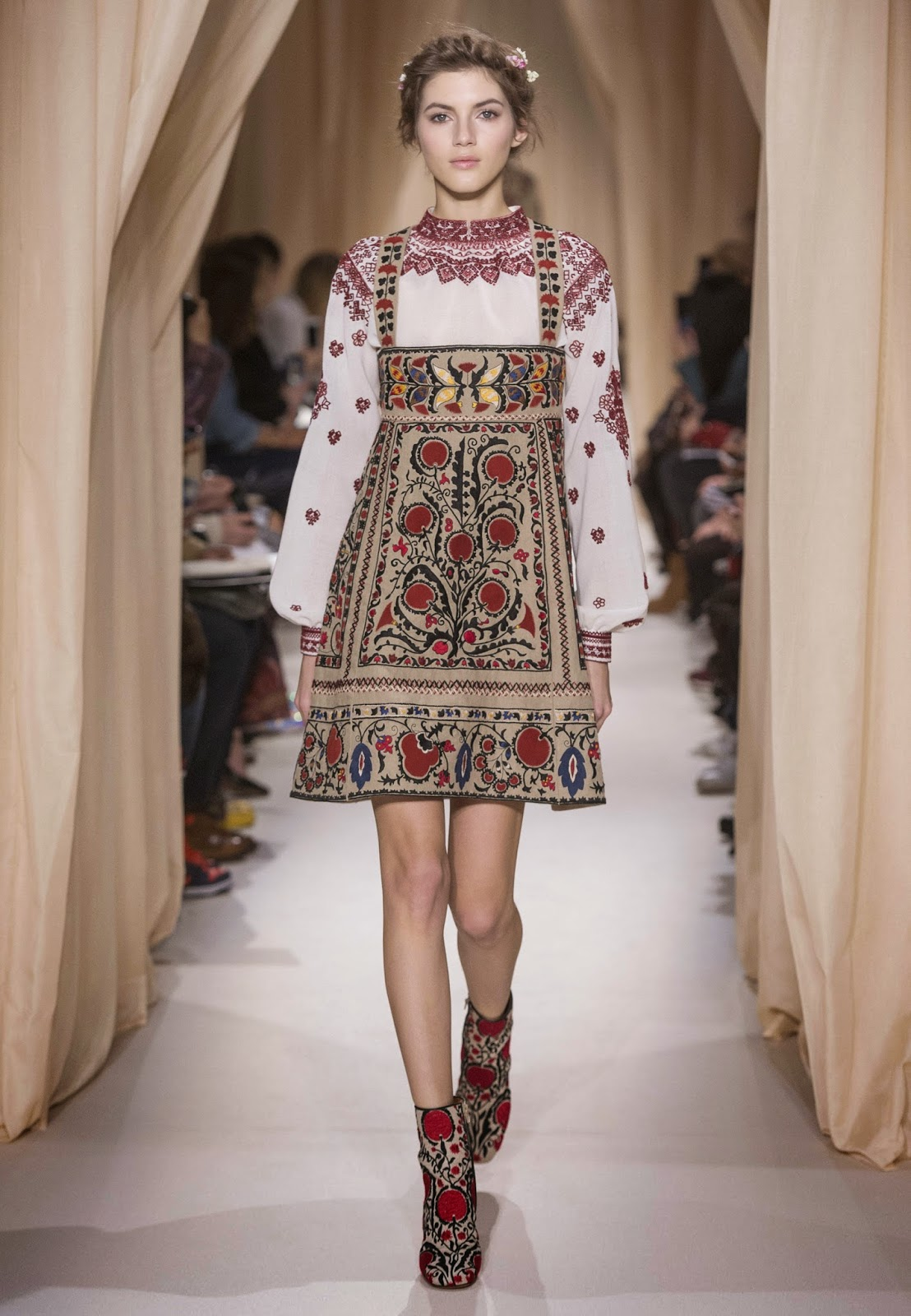 Love With The Newest Collection Of Valentino Here Is My Selection Tunics And Dresses Ukrainian Folk Style Like At Much More Affordable Prices