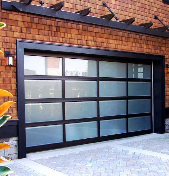 Modern Classic garage door decor