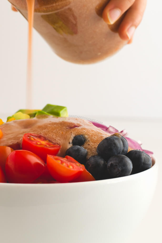 Rainbow salad with tomato dressing | Dance of Stoves