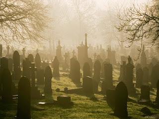 Ilustração cemitério