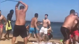 Απίστευτο ξύλο σε παραλία μπροστά σε οικογένειες και παιδιά! (βίντεο)