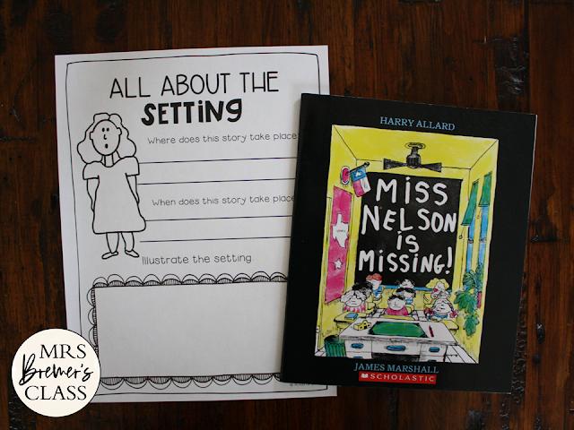 Miss Nelson is Missing activities unit book study for Kindergarten First Grade Second Grade