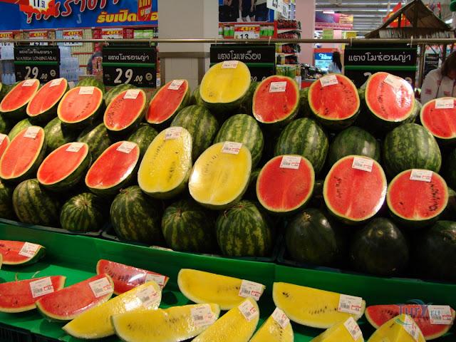 Желтый арбуз, Необычные и удивительные овощи и фрукты
