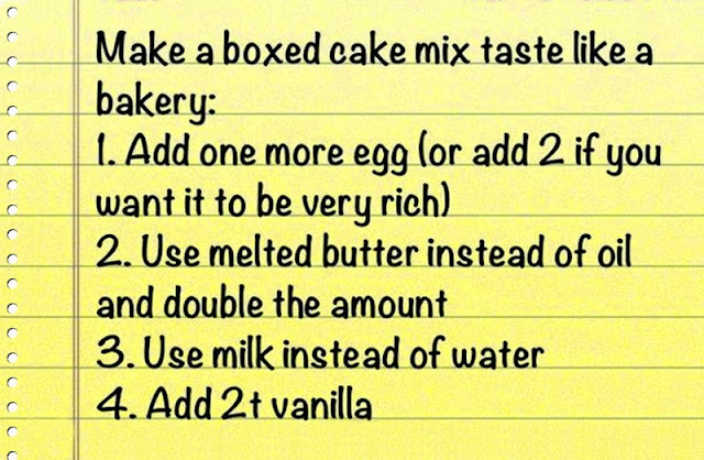 "cake ""recipe"" using bought in cake mix"