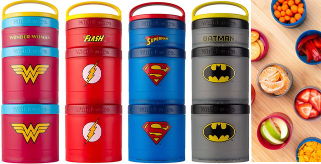 Road Trip Packing Essentials For Kids Giveaway - Whiskware DC Comic Stackable Snack Packs image