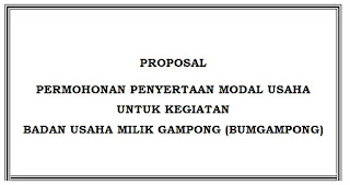 Contoh Proposal Permohonan Penyertaan Modal Usaha