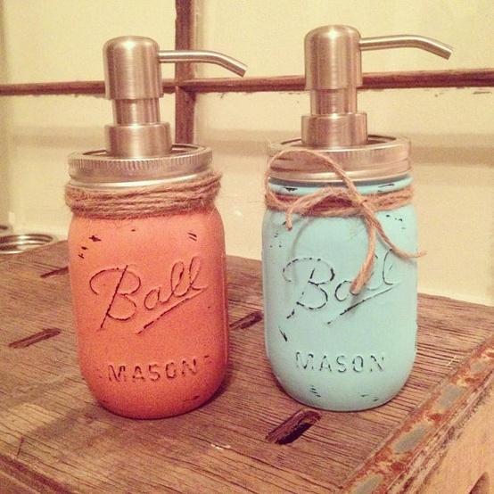 Sue Allemand: diy mason jar soap dispensers