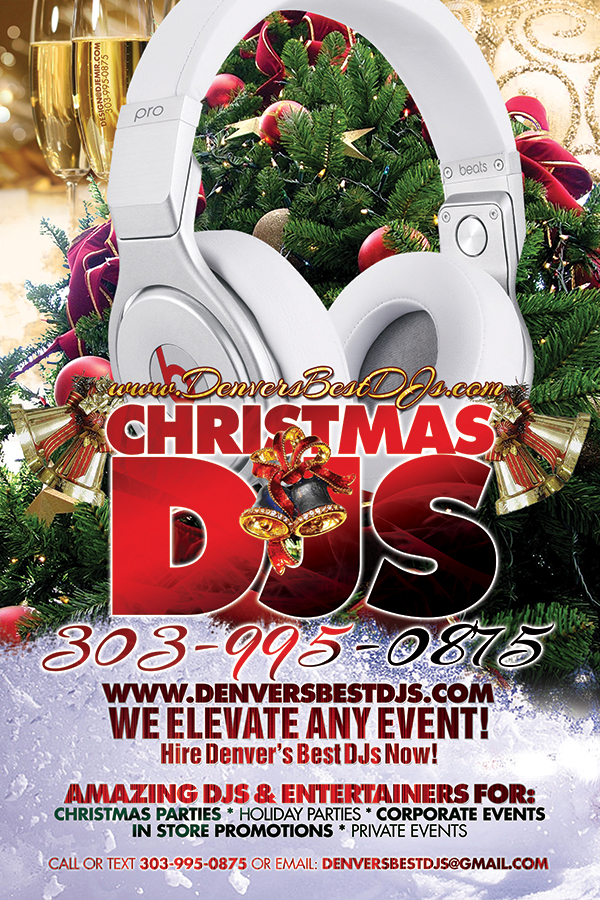 Denver's Best Christmas Party DJs And New Year's Eve DJs Flyer Design