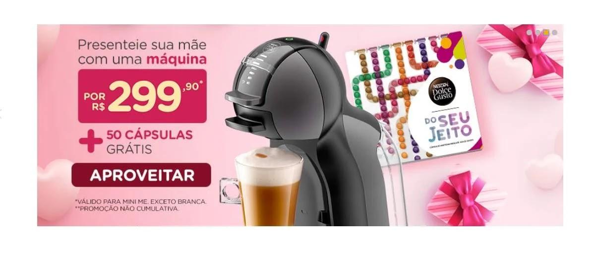 Promoção Dia das Mães 2020 Nescafe Dolce Gusto Compre Ganhe 50 Cápsulas Grátis