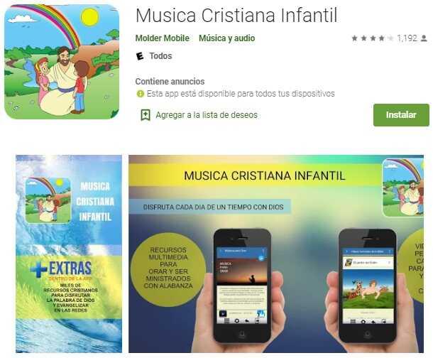 Apps cristianas para niños